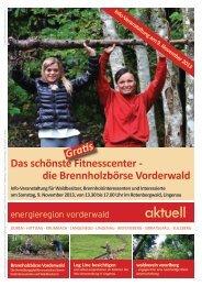 Info Veranstaltung Brennholzbörse am 9. November - Energieregion ...