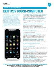 TC55 Technische Daten Datenblatt - Motorola Solutions