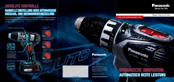 Der Akku-Auto-Bohrschrauber - Panasonic Power Tools
