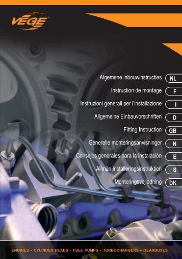 Algemene inbouwinstructies Instruction de montage ... - Vege ES