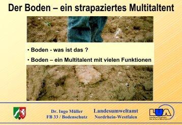 Der Boden – ein strapaziertes Multitaltent - LANUV NRW