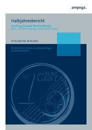 2013 Halbjahresbericht - Ampega Investment AG