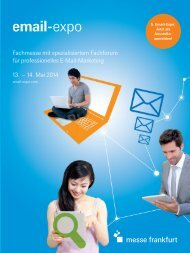 Salesfolders_Email_Expo_2014 (PDF) - Email-Expo - Messe Frankfurt