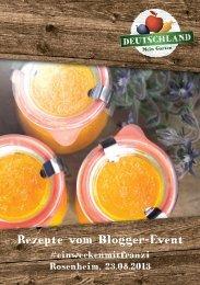 Rezept-Booklet - Deutsches Obst und Gemüse