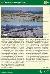 Karsttour auf höchster Ebene - Schwyzer Wanderwege