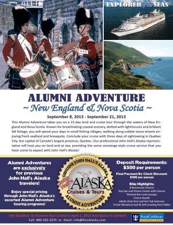 New England & Nova Scotia - John Hall's Alaska Tours
