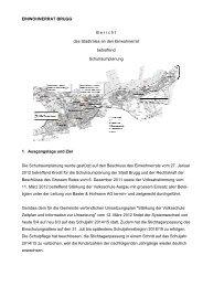 Bericht des Stadtrates an den Einwohnerrat betreffend ... - Brugg