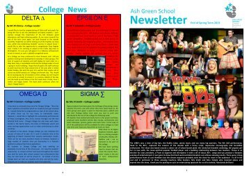 Newsletter Spring Term - Ash Green School