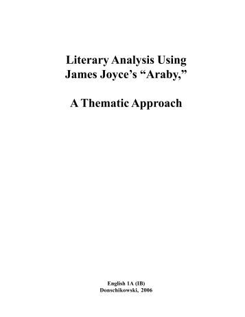a literary analysis of araby and counterparts by james joyce Essay about character analysis of james joyce' eveline  character analysis in 'araby' by james joyce  literary and character analysis of ulysses by james joyce.