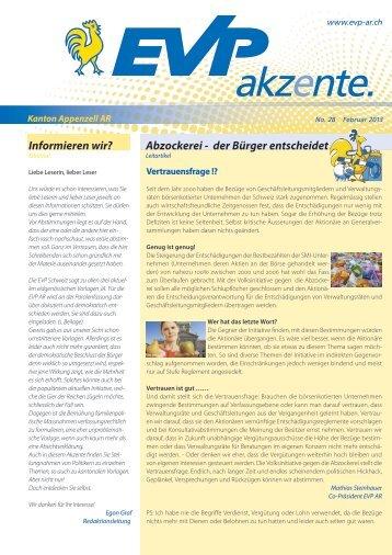 akzente. - EVP Appenzell Ausserrhoden