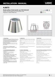 InstallatIon · Manual 4.0073 1/4 - Wibre