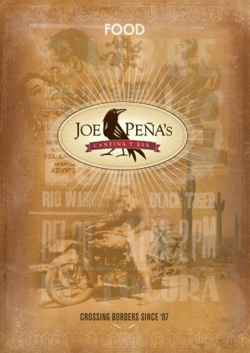 CROSSING BORDERS SINCE '87 kl - joe peña's cantina y bar