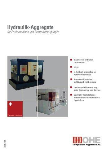 Hydraulik-Aggregate - Oelhydraulik Hagenbuch AG