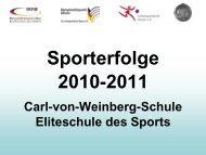 Sportliche Erfolge 2011 - Carl-von-Weinberg-Schule