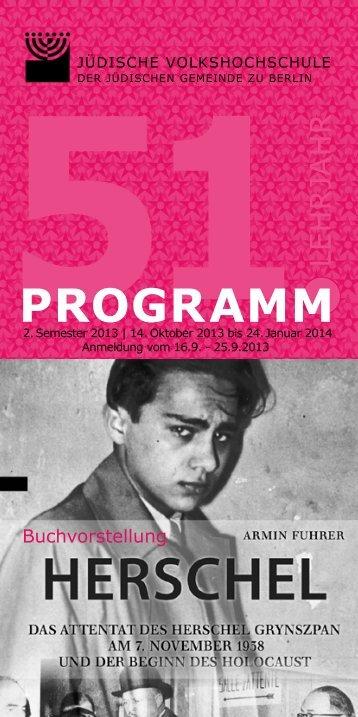 Programm 2. Semester 2013 zum Downloaden - Jüdische ...