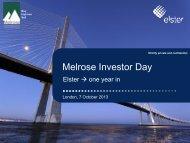 Melrose Investor Day