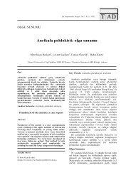 Aurikula psödokisti: olgu sunumu - Tıp Araştırmaları Dergisi