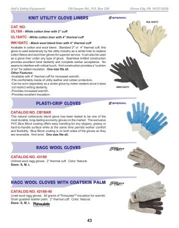 personal protection - Hall's Safety Equipment