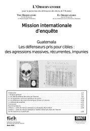 des agressions massives,récurrentes, impunies - FIDH