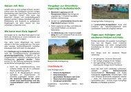 Merkblatt zur Brennholzlagerung im Außenbereich und Tipps zum ...