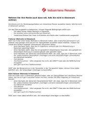 Ta' pensionen med, hvis du forlader Danmark - Industriens Pension