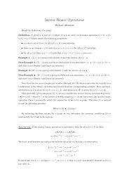 Inverse Binary Operations