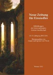 Neuen Zeitung für Einsiedler - Internationale Arnim-Gesellschaft