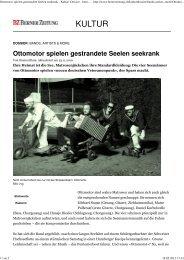 Ottomotor spielen gestrandete Seelen seekrank - Kultur Dossier ...