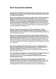 Berliner Mitte Basispapier - Stiftung Zukunft Berlin