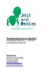 Pressekonferenz am 31. Mai 2011 Kampagnen-Start am 1. Juni 2011 ...