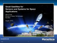 Small Satellites for Sensors and Systems for ... - SMD Symposium