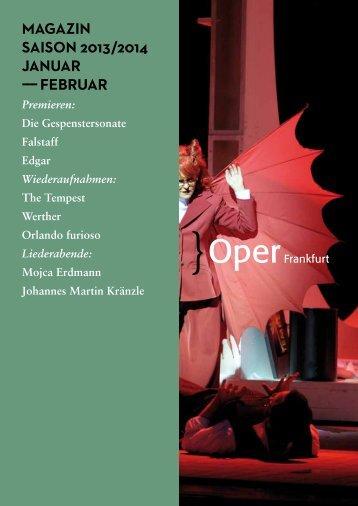 Opernmagazin Januar / Februar 2014 - Oper Frankfurt