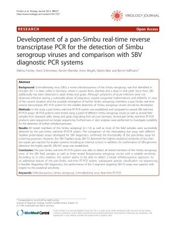 Development of a pan-Simbu real-time reverse ... - Virology Journal