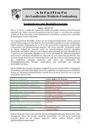 Kompostierung und Bioabfallverwertung - Abfallwirtschaft des ...