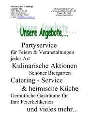 Partyservice Kulinarische Aktionen Catering - Service ... - Dolce-Vita