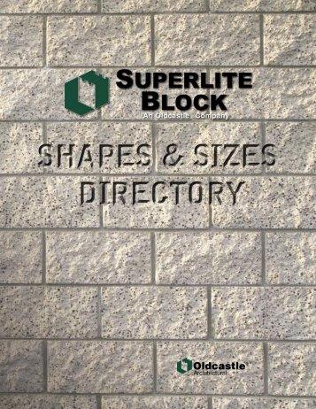 Download Shapes PDF - Superlite Block - Oldcastle Coastal