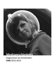 00-mediageschiedenis.pdf - Intranet - Hogeschool van Amsterdam
