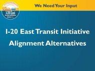 I-20 East Transit Initiative Alignment Alternatives - Marta