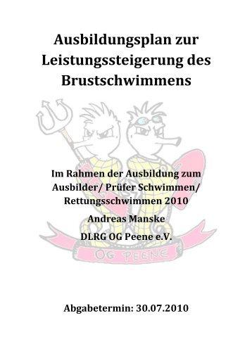 Facharbeit Brustschimmen - Ortsgruppe Peene eV - DLRG
