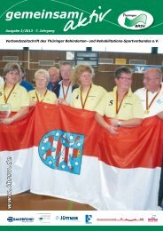 Bundeskader aus Thüringen - Thüringer Behinderten
