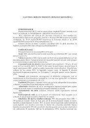 CANCERUL HEPATIC PRIMITIV - Spitalul Clinic Municipal de ...