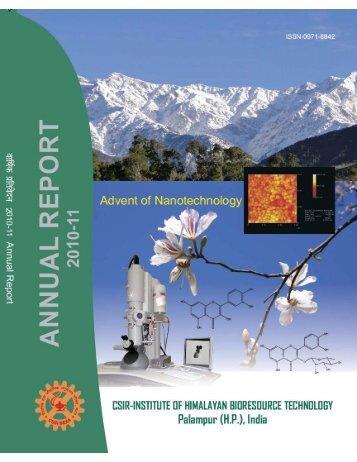 Annual Report - IHBT