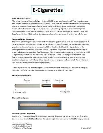E-Cigarettes - American Academy of Pediatrics