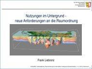 Nutzungen im Untergrund - neue Anforderungen an die Raumordnung - ARL