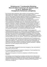 Rekonstruktive Forschung in der Sozialen Arbeit - Deutsche ...
