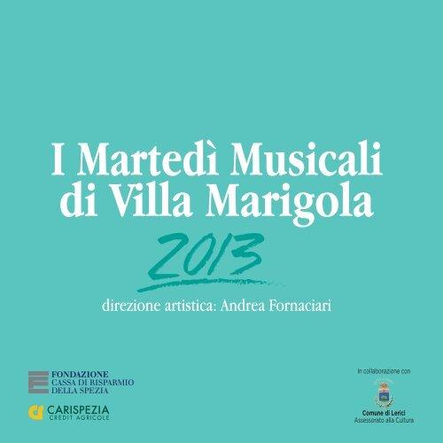 I Martedì Musicali di Villa Marigola