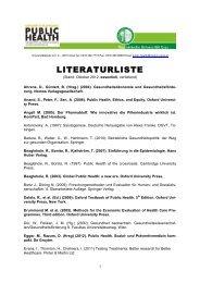 LITERATURLISTE - Public Health