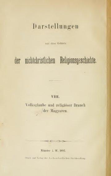 Volksglaube und religiöser Brauch der Magyaren - Centrostudirpinia.it