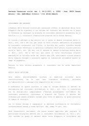 Sentenza Cassazione civile, sez. I, 04-11-2011, n. 22932 ... - Ratio