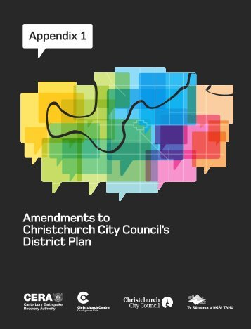 Appendix 1: Amendments to Christchurch City Council's District Plan